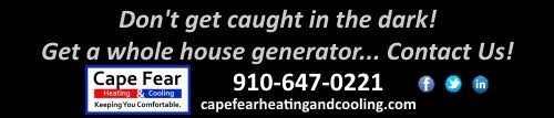 Cape Fear Heating and Cooling Generator ad