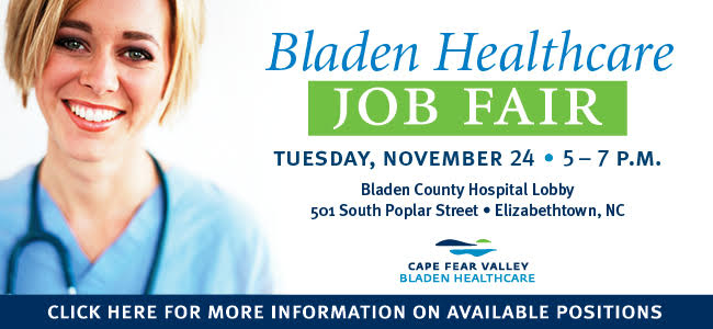 Cape Fear Valley Job Fair Ad
