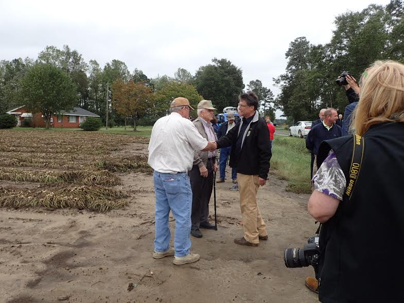 State Leaders Assess Damage in Bladen County