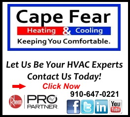 Cape Fear Heating & Cooling Experts ad for BladenOnline