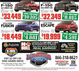 January Ford of Lumberton Ad