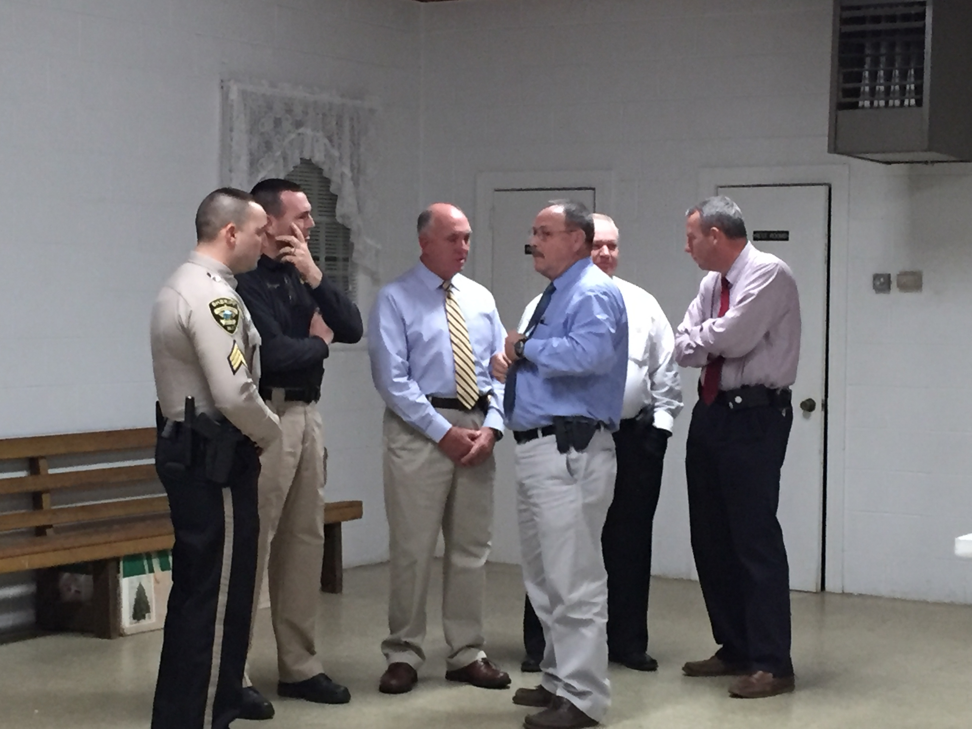 Sheriff and staff visit with Community Watch group
