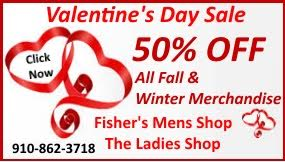 Fisher's Valentines Sale