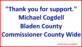 Michael Cogdell Commissioner thank you ad