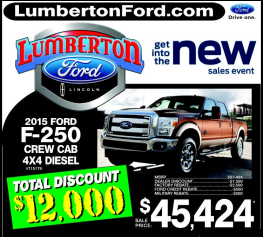 new Lumberton ford ad for March