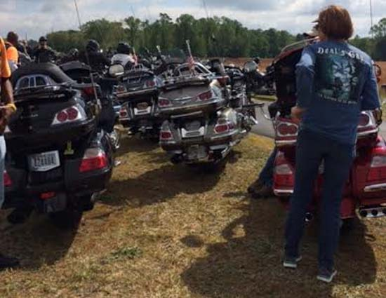 11th annual Hogs and Rags motorcycle ride