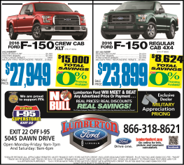 Lumberton Ford new ad for May