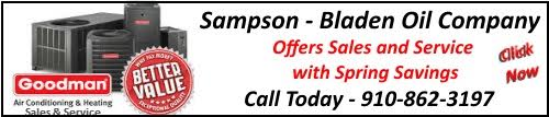 Sampson Bladen Oil Company Spring Savings