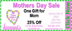 Small Mothers Day Sale at Leinwands