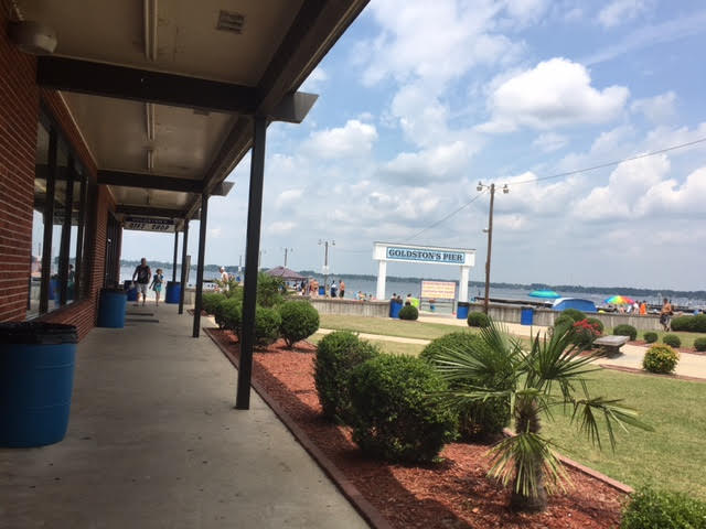 Shopping at Goldston's Pier