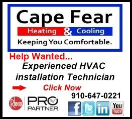 Cape Fear HVAC Employment ad