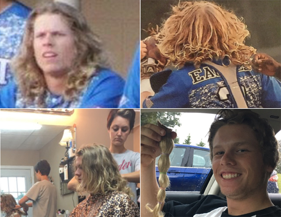 Kyle Tatum Donates His Hair to Locks of Love