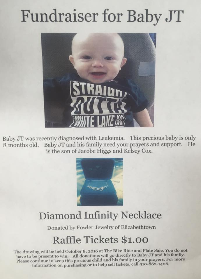 Fundraiser for baby JT Higgs is Oct. 8