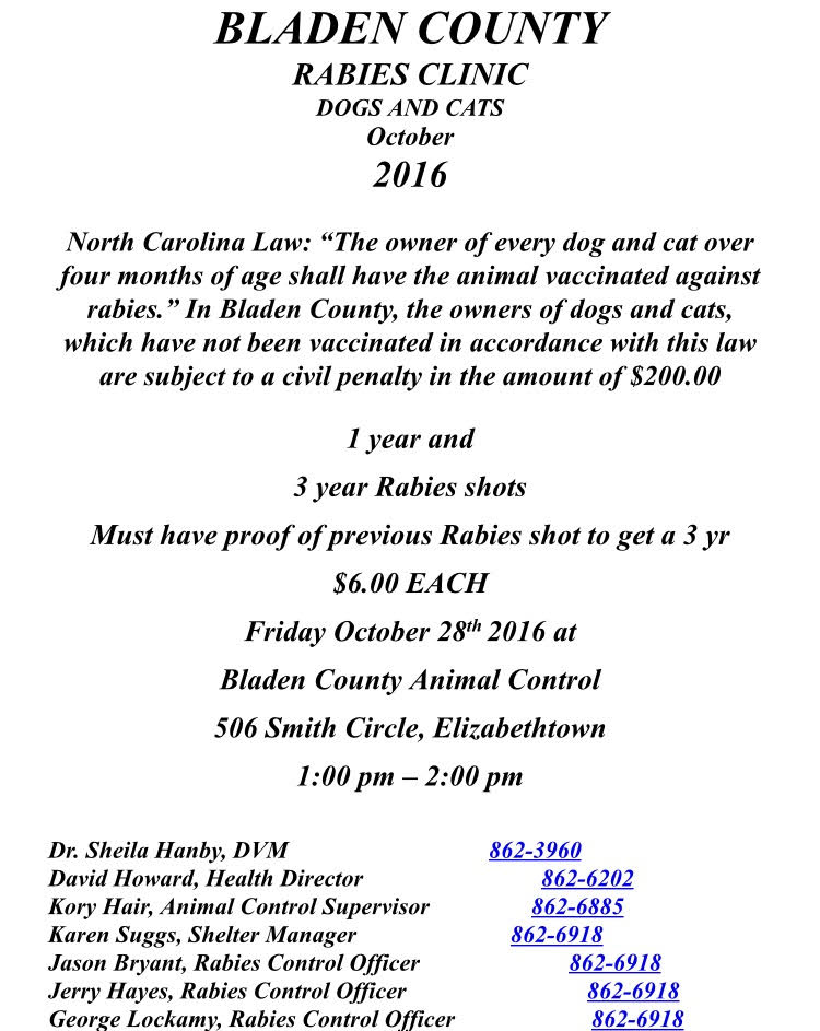 bladen-county-rabies-clinic-for-october-2016