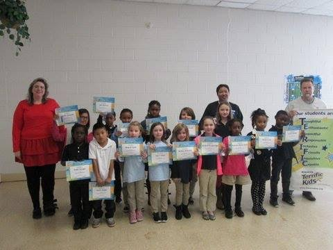Elizabethtown Kiwanians held a Terrific Kids Awards Ceremony at Elizabethtown Primary 7