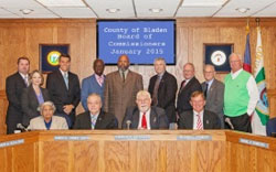 County Board of Commissioners and Staff