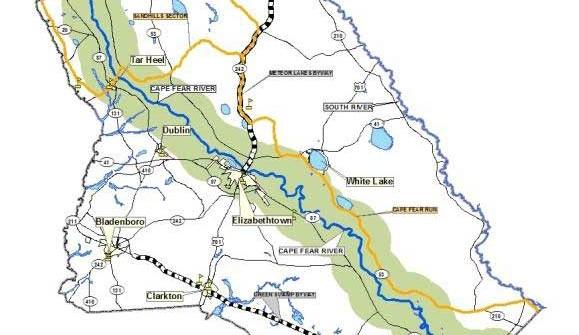 Bladen-County-Road-map