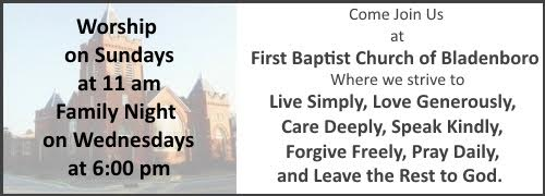 First Baptist Church of Bladenboro ad
