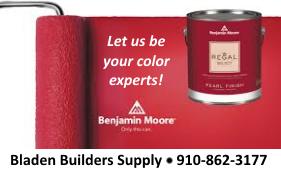 Bladen Builders Supply red paint