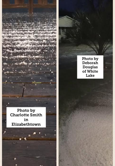 Elizabethtown hail and White Lake hail