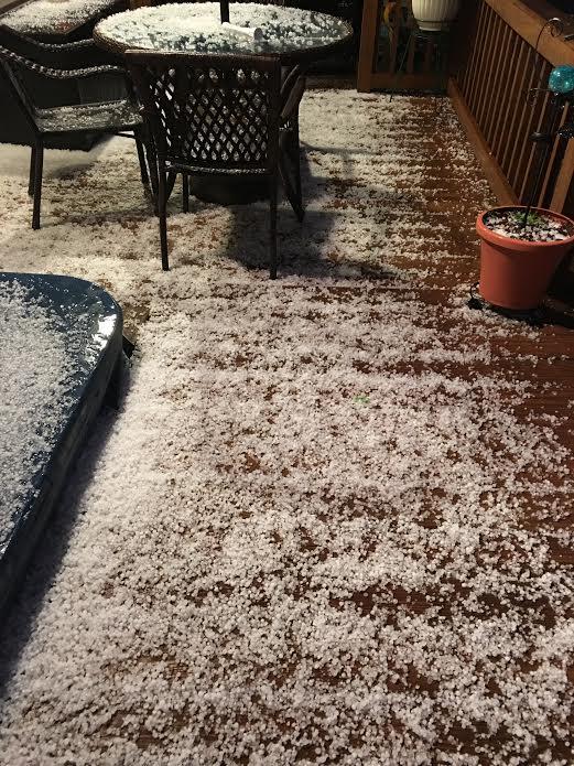 Hail at White Lake NC 2