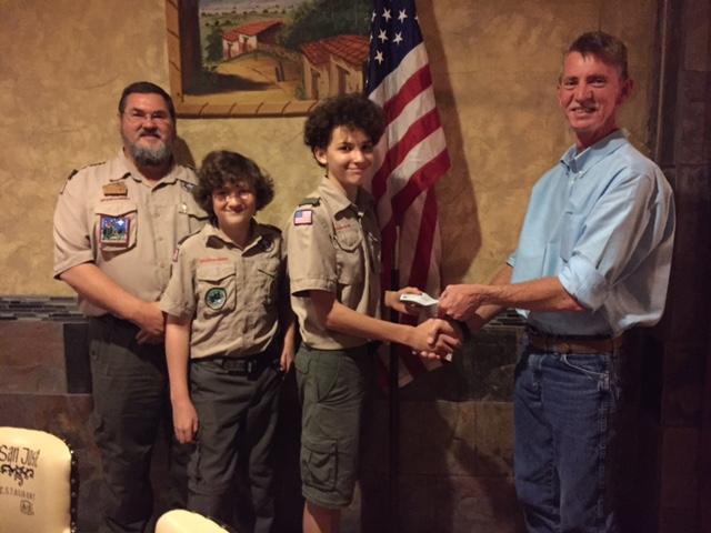 Kiwanis Scout Donation